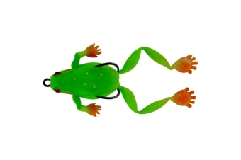 Chasebait Lures Bobbin Frog 65mm Double Hook Top Water Fishing Lure - Tree Frog