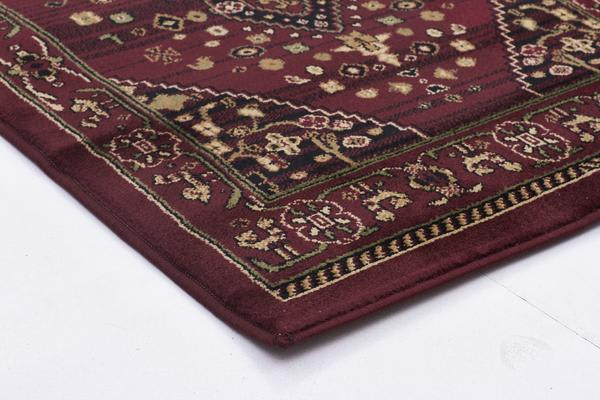 Traditional Shiraz Design Rug Burgundy Red 290x200cm
