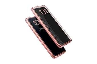 For Samsung Galaxy S8 Case Transparent Electroplating Protective Cover Rose Gold