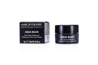 Make Up For Ever Aqua Black Waterproof Cream Eye Shadow - #1 (Black) 7g/0.24oz