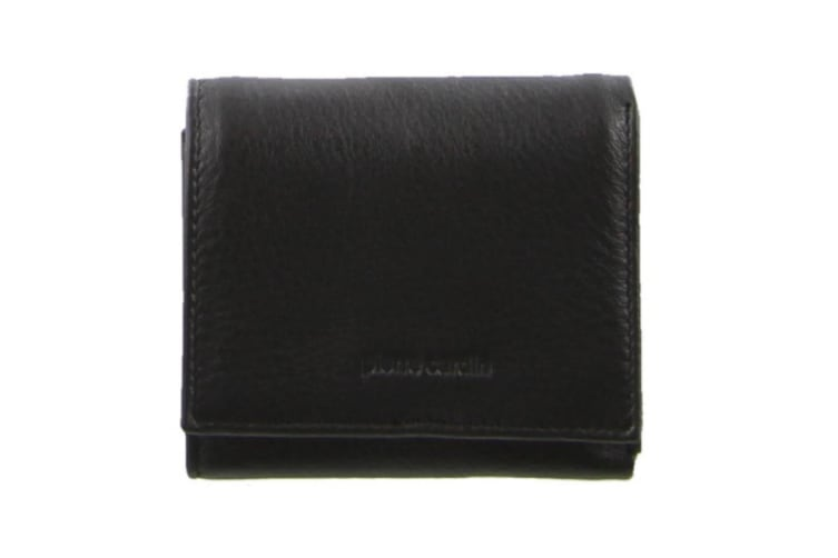 Pierre Cardin Mens Tri-fold Rfid Protected Wallet - Italian Leather - Black