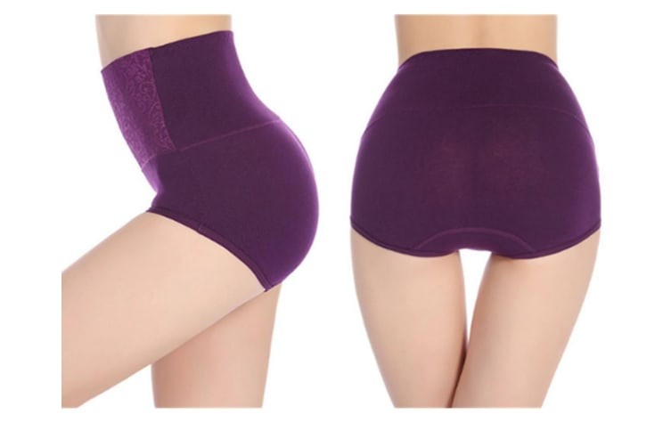 5 Pack Of Sexy Lace Non-Trace Comfortable Pantylace Tummy Control High Waist Underwear 3Xl