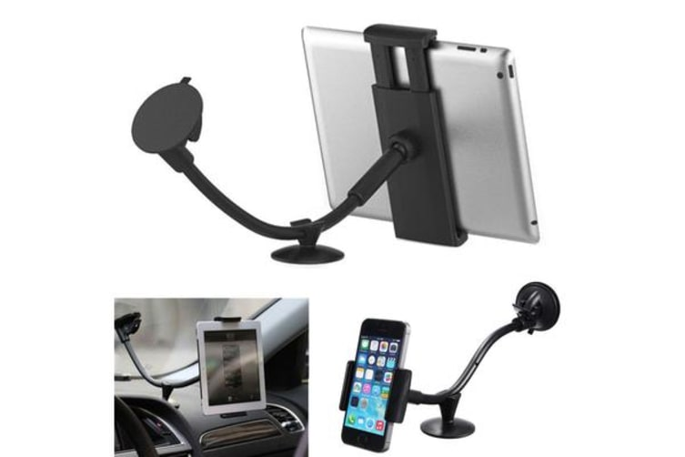 """Universal 2 In 1 Car Windsheild Mount Holder Stand Mobile Phone 5"""" Tablet Pc 7"""""""