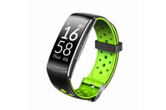"Bluetooth V4.0 Smart Watch Blood Pressure Heart Rate 0.96"" Oled Ip68 - Green"