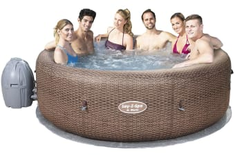 Bestway Inflatable Spa Lay Z Hot Tub Outdoor Massage Pool Portable Jacuzzi 5-7 People 140 Jets