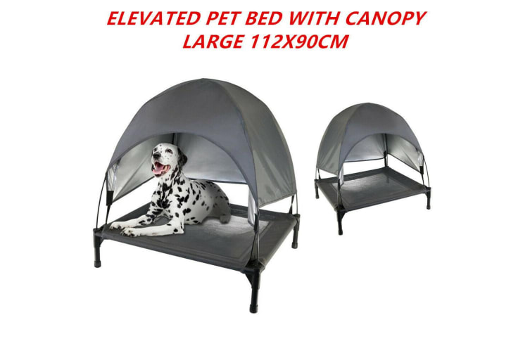 Large Elevated Dog Bed Canopy Steel Frame Pet Sleep Trampoline Durable Canvas Cool
