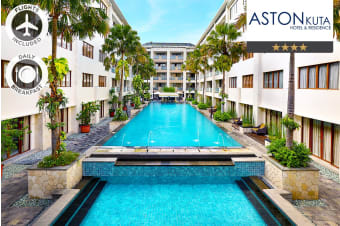 BALI: 5 Nights at Aston Kuta Hotel and Residences Including Flights for Two