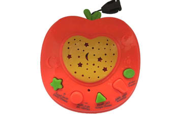 Select Mall Early Education Machine Starry Sky Projection Story Machine Educational Toy Dot Reading Machine for Children-Orange