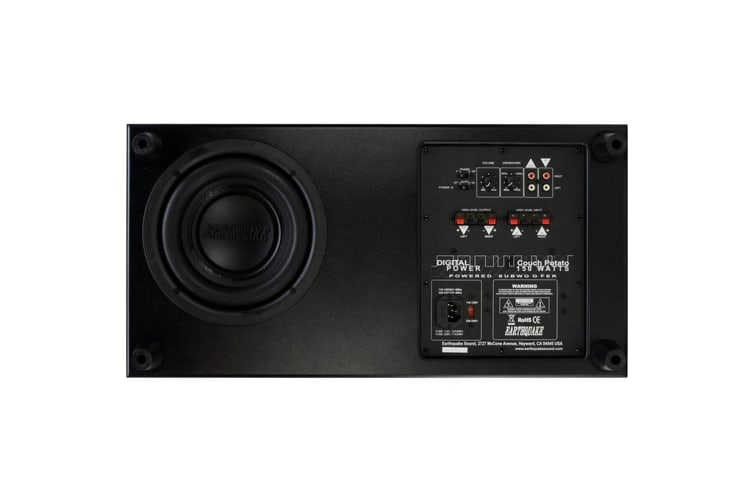 150W Couch Potato Subwoofer Slim 7 Inch Tall