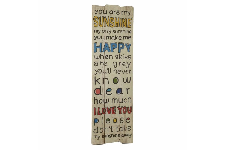 You Are My Sunshine Sign (Multicoloured) (119 x 37 x 1.2cm)