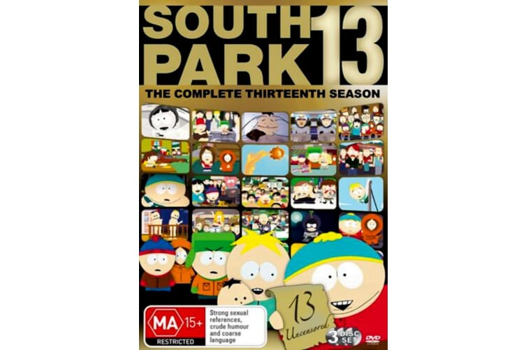 South Park Series 13 -Comedy Series Region 4 Rare- Aus Stock Preowned DVD: DISC LIKE NEW