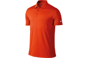 Nike Mens Victory Short Sleeve Solid Polo Shirt (Team Orange) (S)