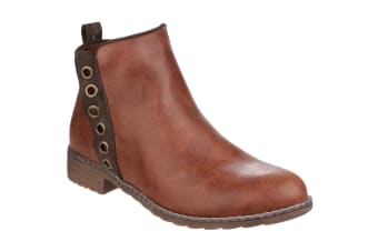 Divaz Womens/Ladies Demi Pull On Ankle Boots (Tan)