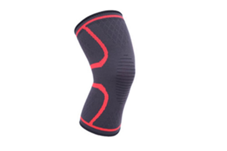 2Pcs Male And Female Black Outdoor Sports Kneecap For Running Basketball Soccer Mountaineering Red L