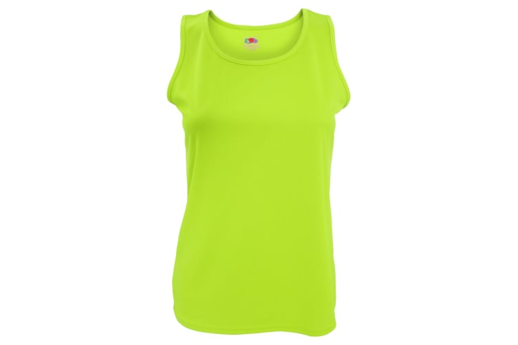 Fruit Of The Loom Womens/Ladies Sleeveless Lady-Fit Performance Vest Top (Lime) (XS)