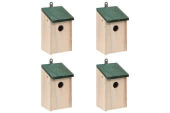 vidaXL Bird House Nesting Box Wood 4 pcs