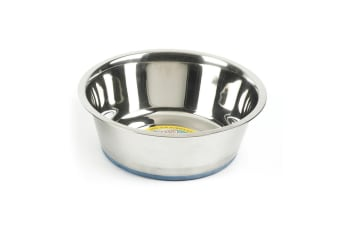 Classic Steel Non-Slip Pet Dish (Pack Of 6) (May Vary)