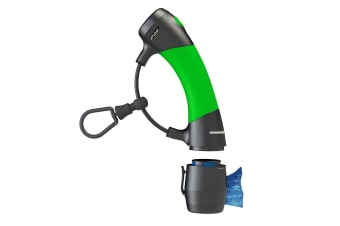 Dog Gone Smart Gizmo Dog Lead Handle With Plastic Poo Bag Dispenser (Lime Green/Black)
