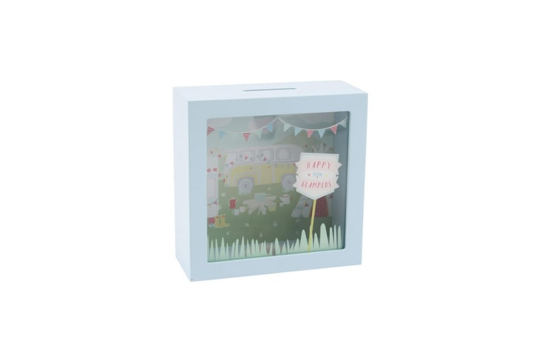 CGB Giftware Happy Glampers Money Box (Aqua) (One Size)