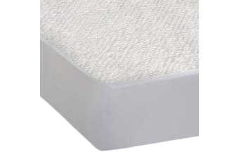 DreamZ Fitted Waterproof Mattress Protector with Bamboo Fibre Cover Queen Size