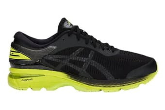 ASICS Men's Gel-Kayano 25 2E Running Shoe (Neon Lime/Black, Size 10.5)