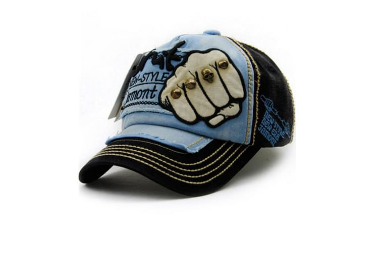 Adjustable Jeans Style  Unisex Cotton  Baseball Caps with Embroidery denim Black