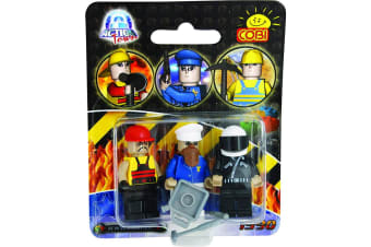 Action Town 3 Piece Figure Set Construction Set