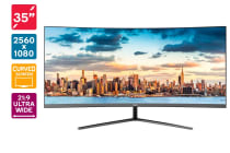"Kogan 35"" Curved 21:9 Ultrawide 75Hz FreeSync Gaming Monitor"