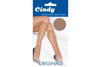 Cindy Womens/Ladies Micromesh Knee Highs (1 Pair) (Sahara)