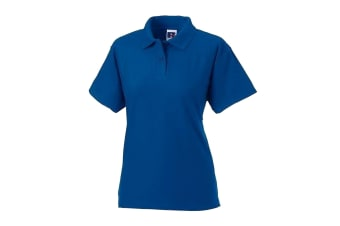 Jerzees Colours Ladies 65/35 Hard Wearing Pique Short Sleeve Polo Shirt (Bright Royal) (XL)