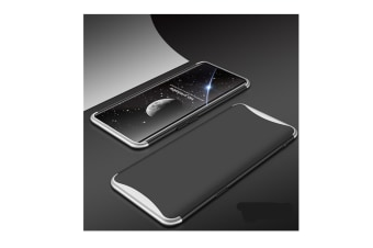 Frosted Shield Matte Plastic Ultra Thin Shockproof Case For Oppo Silver+Black R7S
