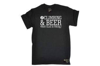 Adrenaline Addict Rock Climbing Tee - And Beer What Else Is There Mens T-Shirt