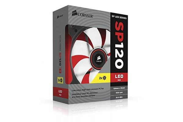 Corsair SP 120mm Fan with Red LED High Pressure Twin Pack!
