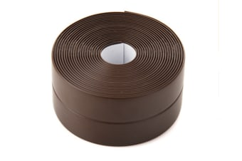 38mm Kitchen Bathroom Self Adhesive Wall Seal Ring Tape Waterproof Mold Proof Edge Trim Tape Accessory-BROWN