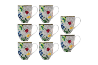 8PK Maxwell & Williams Teas & C's Contessa 440ml Coupe Mug Tea Coffee White
