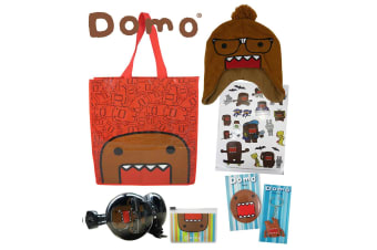 Domo Kids Showbags w/Monster Beanie/Stickers/Badge/Headphones/Keyring/ Show Bag