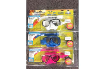 Land & Sea Clearwater Silicone Mask & Snorkel Set - Blue