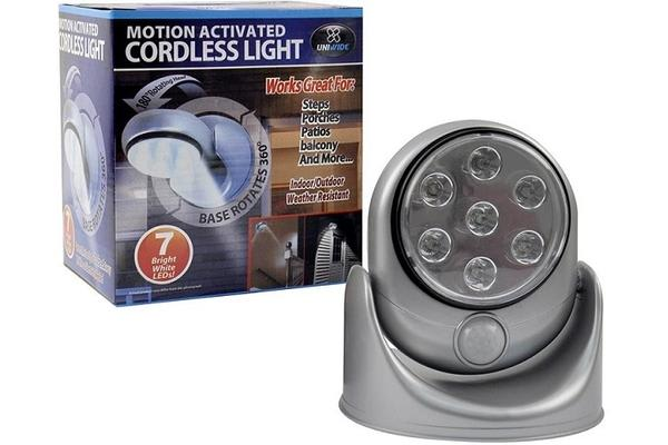 Motion Activated 7 Led Light - Silver
