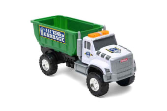 Tonka Mighty Fleet Tough Cab Drop Bin Garbage