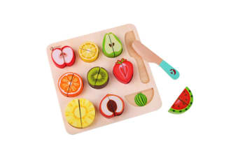 Cute Wooden Fruit Cutting Puzzle Blocks Toy For Toddlers
