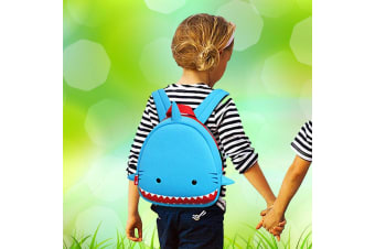 Kids 3D Shark Waterproof Backpack | Padded Adustable Straps | Ages 3+