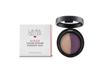 Laura Geller Baked Color Intense Shadow Duo - # Slate/Plum 7.5g/0.26oz