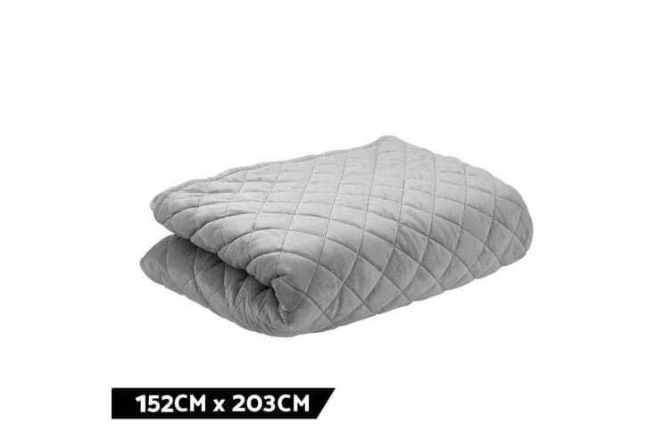 Giselle Bedding Microfibre Weighted Blanket Zipped Cover Washable Adult 152x203cm