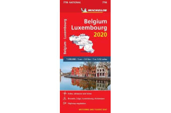 Belgium & Luxembourg 2020 - Michelin National Map 716 - Map