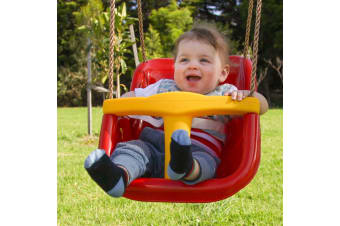 Baby Swing Seat with Rope Extensions in Red