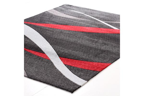 Ribbon Pattern Rug Black 160x110cm