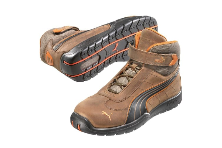 Puma Safety Mens Indy Mid Touch Fastening Safety Boot (Brown) (11)