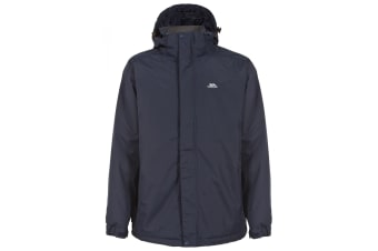 Trespass Mens Lennon Waterproof Rain Jacket (Navy Tone)