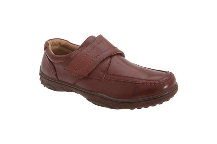 Smart Uns Mens Touch Fastening Casual Shoes (Tan) (7 UK)