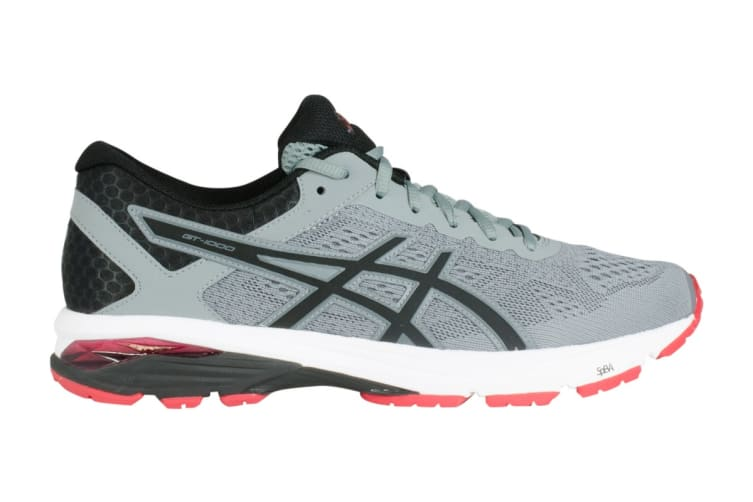 ASICS Men's GT-1000 6 Running Shoe (Stone Grey/Black/Red, Size 10)